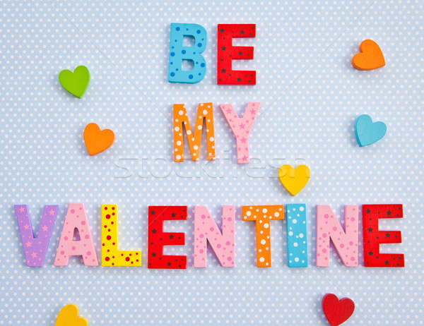 Be my Valentine on blue background Stock photo © BarbaraNeveu