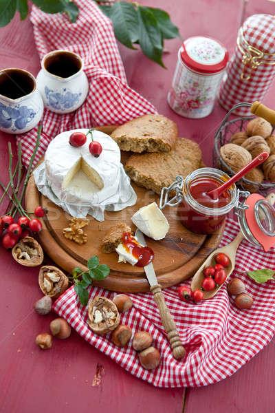 Bread, cheese and marmelade Stock photo © BarbaraNeveu