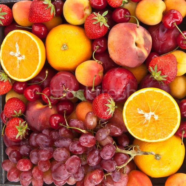 Colorato fresche frutti estate alimentare rosso Foto d'archivio © BarbaraNeveu