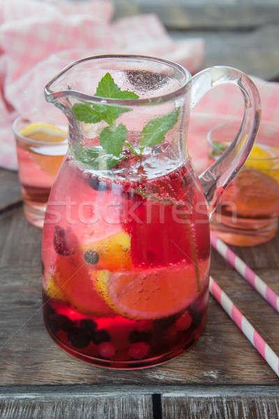 Pink lemonade with lemon Stock photo © BarbaraNeveu