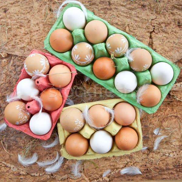 Background with a variety of eggs Stock photo © BarbaraNeveu
