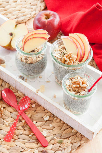 Chia Pudding with fresh fruits Stock photo © BarbaraNeveu