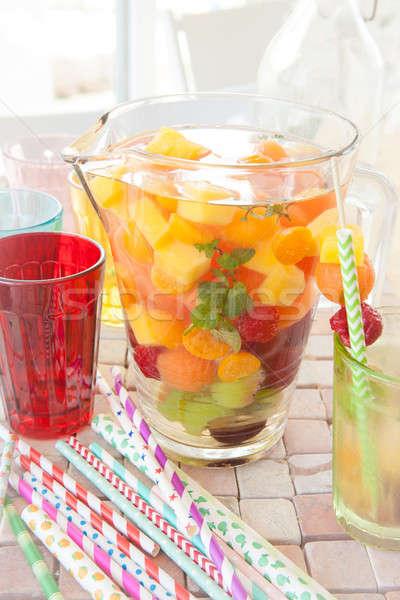 Fatto in casa frutta colorato frutti menta party Foto d'archivio © BarbaraNeveu