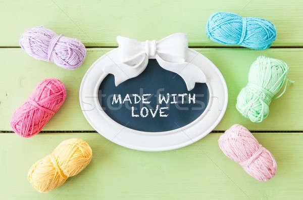 Colorful yarns for knitting Stock photo © BarbaraNeveu
