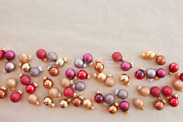 Stock photo: Background wth christmas baubles