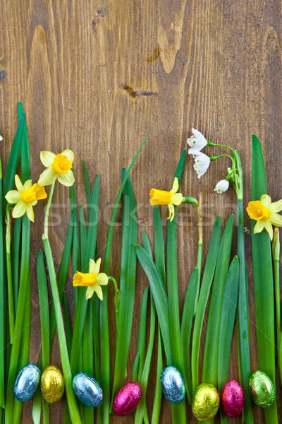 Background with spring flowers Stock photo © BarbaraNeveu