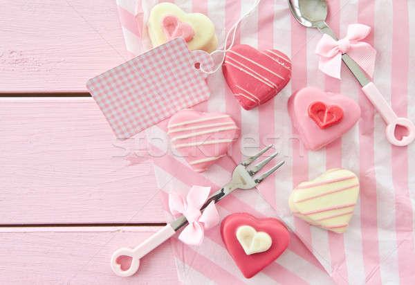 Rose forme de coeur coloré coeur alimentaire Photo stock © BarbaraNeveu