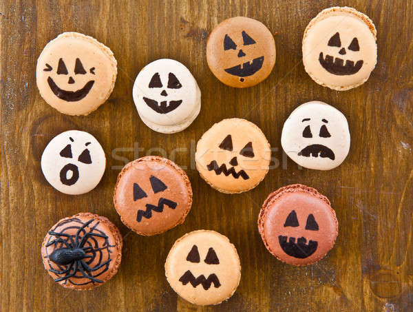 Macaroons with scary faces Stock photo © BarbaraNeveu