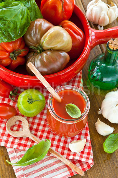 Homemade tomato sauce Stock photo © BarbaraNeveu