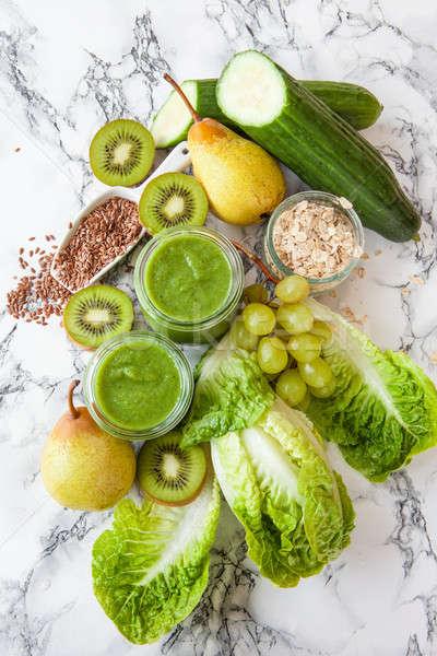 グリーンスムージー キウイ 新鮮な 果物 野菜 ブドウ ストックフォト © BarbaraNeveu