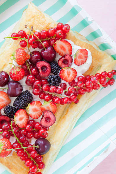 Puff pastry with fresh fruits Stock photo © BarbaraNeveu