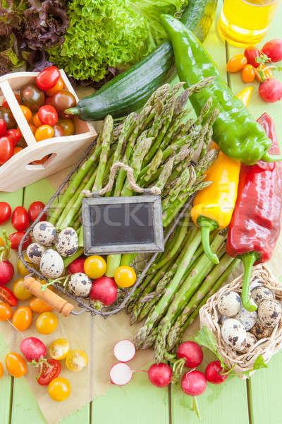 Foto stock: Verde · espárragos · otro · verduras · frescas · alimentos · salud