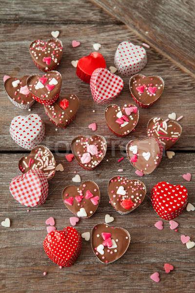 Homemade chocolates with sprinkles Stock photo © BarbaraNeveu