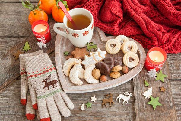 Variety of christmas cookies Stock photo © BarbaraNeveu