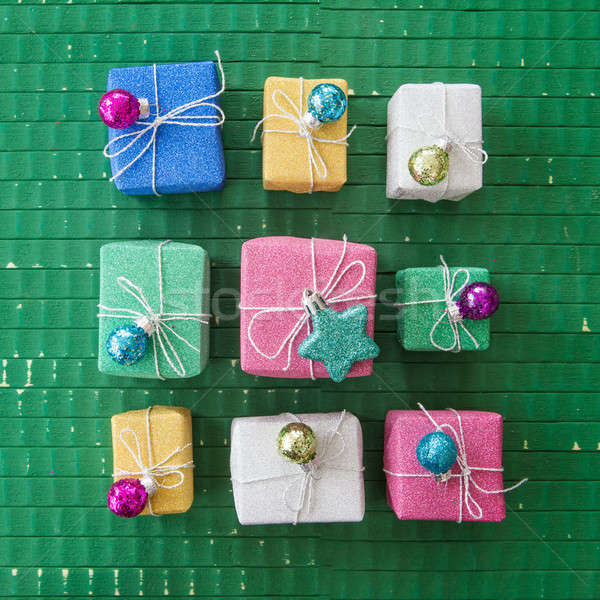 Little coloful gift boxes Stock photo © BarbaraNeveu