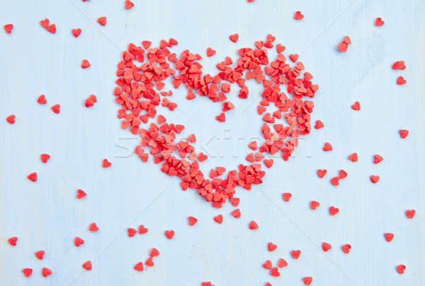 Stock photo: Red sugar hearts