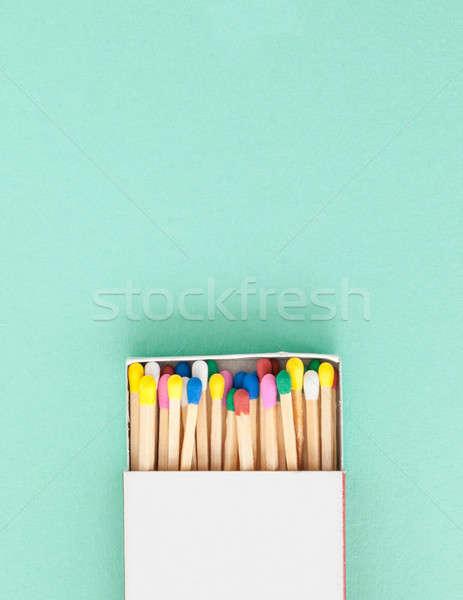 Kolorowy mecze pastel kolory niebieski Zdjęcia stock © BarbaraNeveu