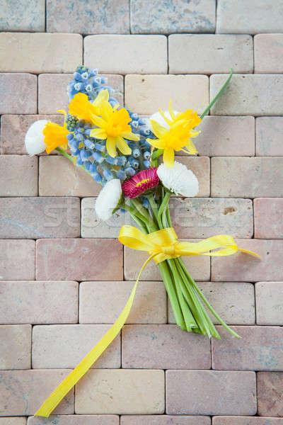 мало букет весенние цветы деревенский каменные цветы Сток-фото © BarbaraNeveu