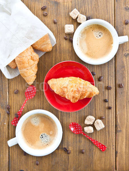 Coffee and croissants Stock photo © BarbaraNeveu