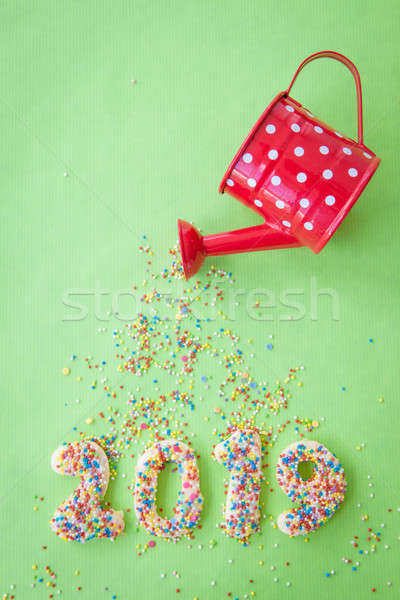 Stock photo: Cookies for the New Year 2019