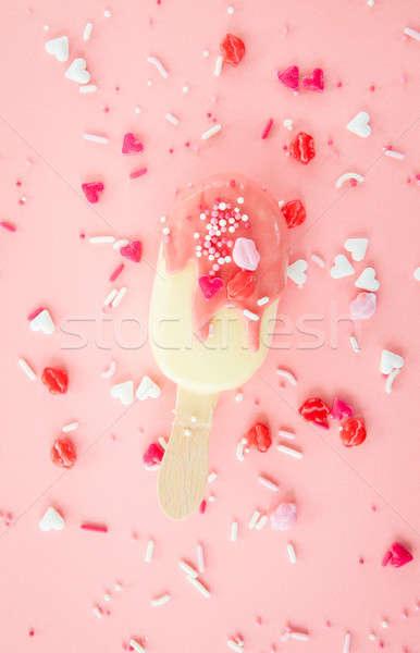 Vanilla ice cream with sprinkles Stock photo © BarbaraNeveu