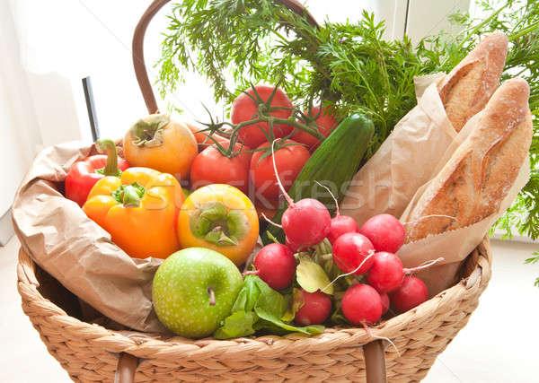 Fresh produce from the farmers market Stock photo © BarbaraNeveu