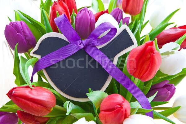 Colorful tulips for easter Stock photo © BarbaraNeveu