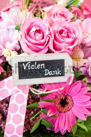 Színes nyári virágok rózsaszín tavasz esküvő szeretet Stock fotó © BarbaraNeveu