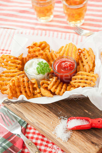 Vers wafel frietjes ketchup mayonaise kruis Stockfoto © BarbaraNeveu