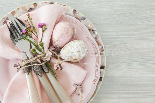Decorative table setting for easter Stock photo © BarbaraNeveu