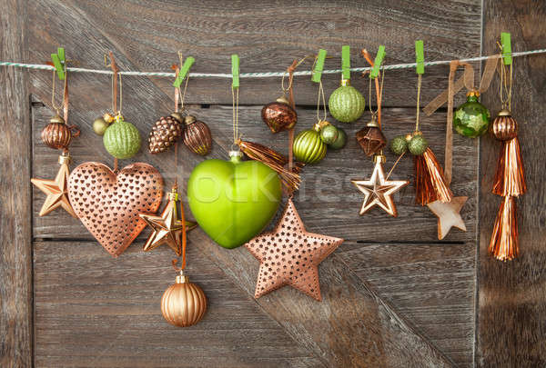 Rustic christmas background Stock photo © BarbaraNeveu