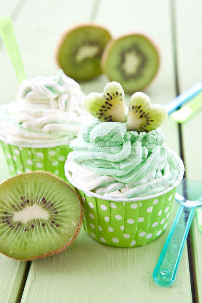 Frozen yogurt with fresh kiwi Stock photo © BarbaraNeveu