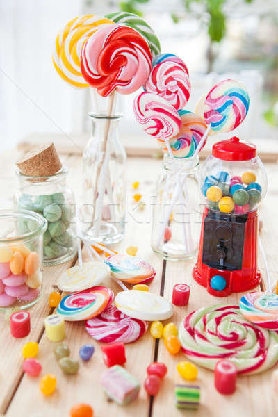 Colorful popsicles and candy Stock photo © BarbaraNeveu