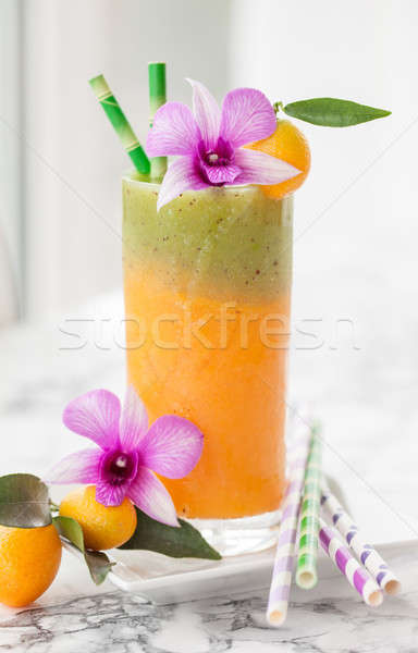 Smoothie made from a variety of fruits Stock photo © BarbaraNeveu