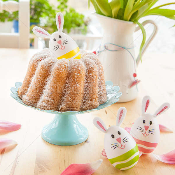 Sponge cake and easter eggs Stock photo © BarbaraNeveu