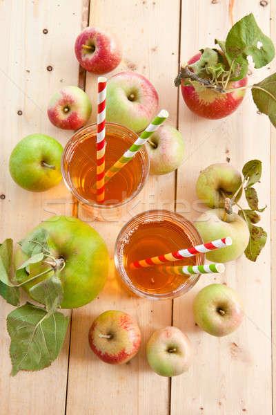 リンゴジュース 新鮮な リンゴ オーガニック 食品 ストックフォト © BarbaraNeveu