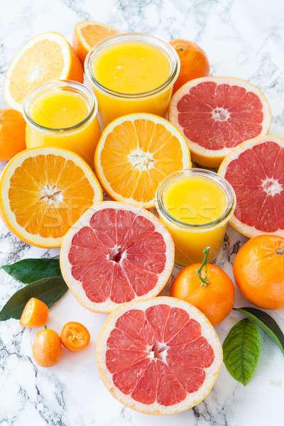 Juice made from fresh citrus fruits Stock photo © BarbaraNeveu