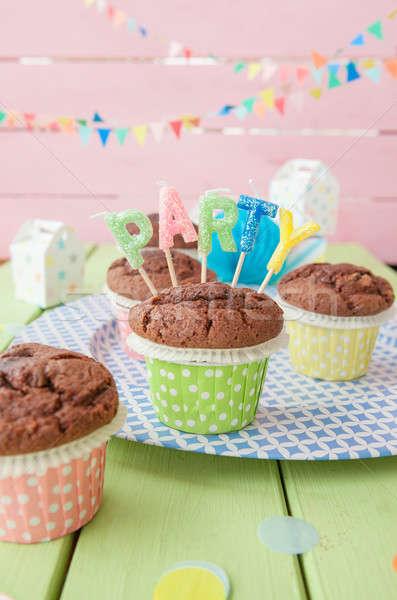 Little chocolate muffins Stock photo © BarbaraNeveu