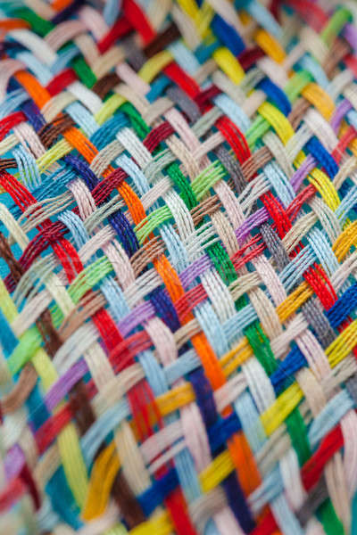 Colorful yarns woven loosely Stock photo © BarbaraNeveu