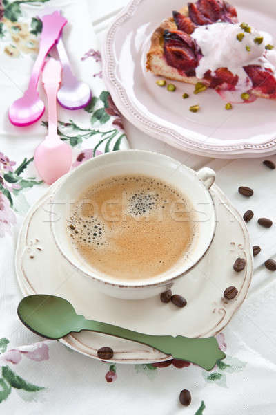 Vintage cup with coffee Stock photo © BarbaraNeveu