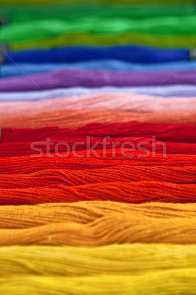Yarn in rainbow colors Stock photo © BarbaraNeveu