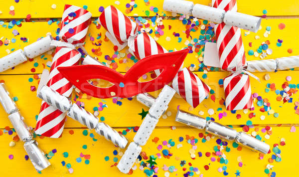 Colorful party crackers Stock photo © BarbaraNeveu