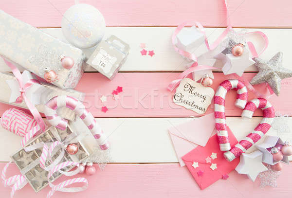 Pink christmas decorations stock photo barbara neveu for B m christmas decorations