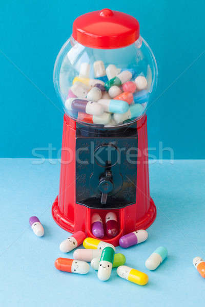 Pills with happy faces Stock photo © BarbaraNeveu