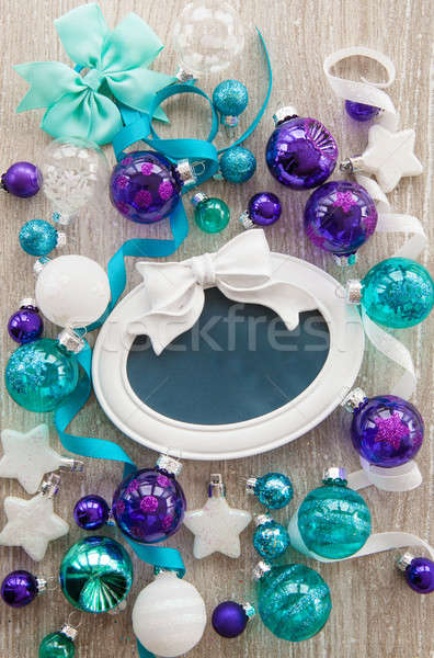 Stock photo: Christmas baubles and decorations