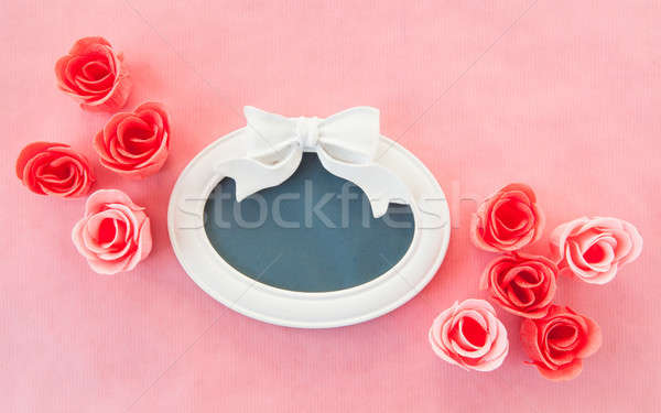 Vintage frame with roses Stock photo © BarbaraNeveu