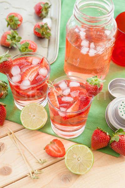Homemade strawberry lemonade Stock photo © BarbaraNeveu