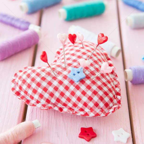 Pincushion in a heart shape Stock photo © BarbaraNeveu