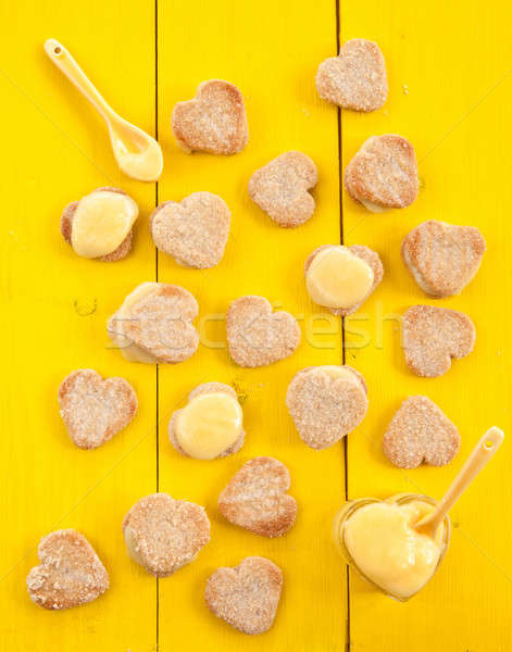 Heart cookies with Lemon Curd Stock photo © BarbaraNeveu