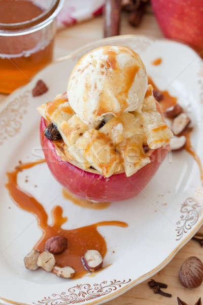 Baked apple with puff pastry Stock photo © BarbaraNeveu